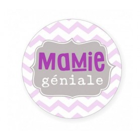 "Badge (56mm) ""mamie géniale"""