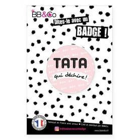 "Badge (56mm) ""Tata qui déchire)"