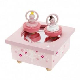 Boite à musique dancing ballerine rose figurine ballerine