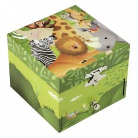 Coffret musique cube Jungle vert