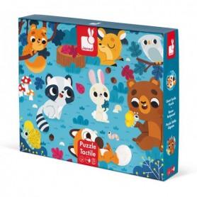 Puzzle tactile - Les animaux de la forêt