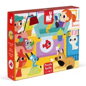 Puzzle tactile - Les animaux domestiques - 20 pcs