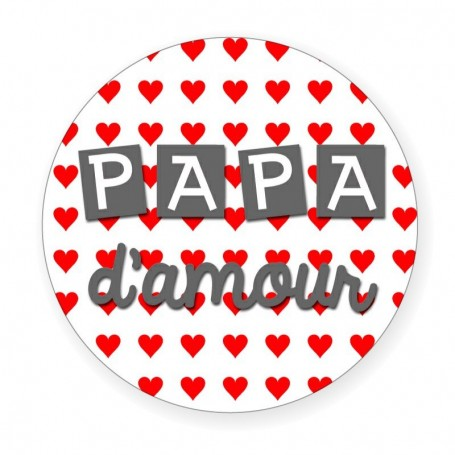 Badge papa d'amour