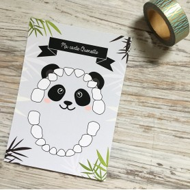 Carte Quenottes Modèle Panda