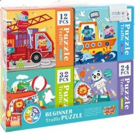 Coffret puzzles progressifs 4 véhicules