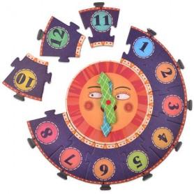 Coffret puzzle auto-correcteur horloge