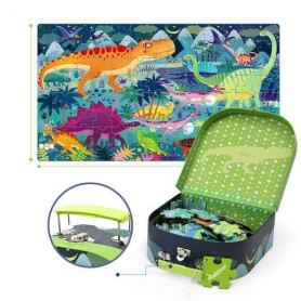 Ma valise puzzle dinosaures