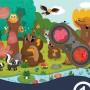 Puzzle détective forêt