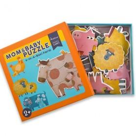 Mon 1er puzzle - Animaux de la ferme et leur petit