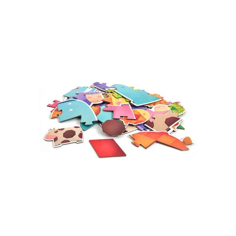 Mon 1er puzzle - Animaux géométriques