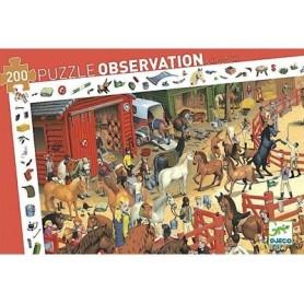 Puzzle observation : équitation 200 pièces