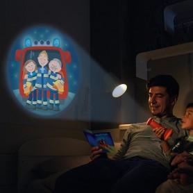 Veilleuse - lampe de poche projecteur - Au feu les pompiers