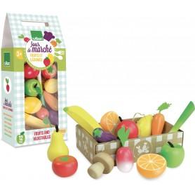 JOUR DE MARCHE  Set de fruits et légumes