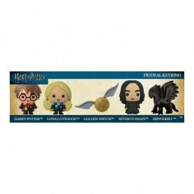 Harry Potter pack 5 porte-clés caoutchouc 3D Hippogriff Exclusive