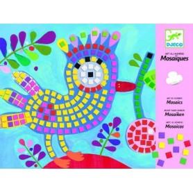 Mosaiques: oiseau et coccinelle